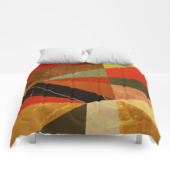 Abstract #257 Vincent's Bedroom Comforters