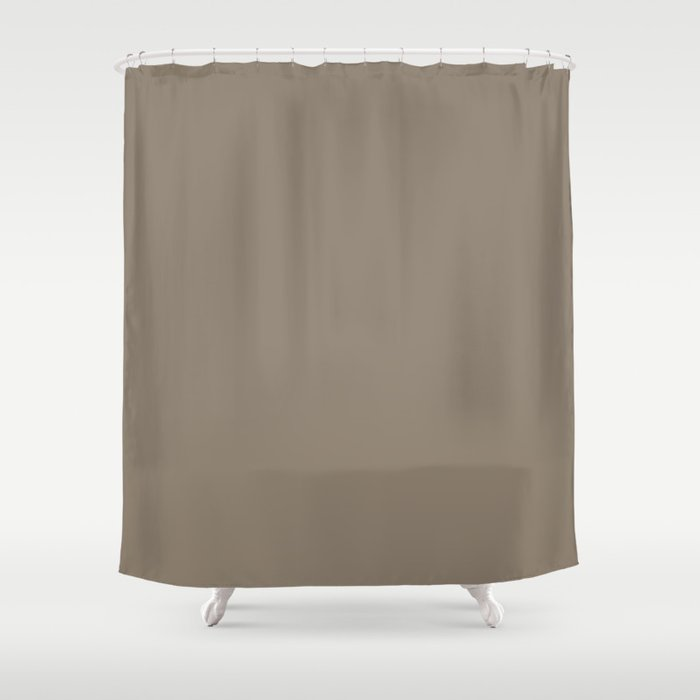 Mulch Brown English Country Wedding Shower Curtain By Honorandobey