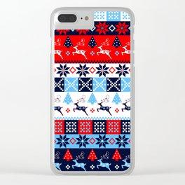 Scandinavian holidays pattern design Clear iPhone Case