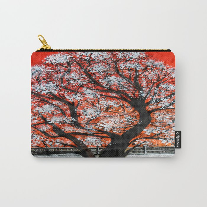 Snowy old tree Carry-All Pouch