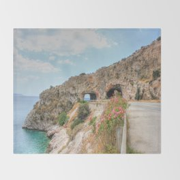 Beauty By The Road HDR Throw Blanket