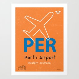 PER Perth airport code Art Print