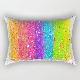 Splatter Rainbow Rectangular Pillow