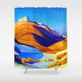 Rockwell Kent Vermont Study Shower Curtain