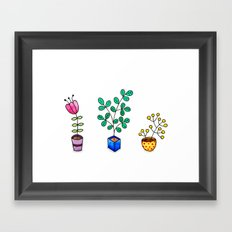 Flower pots Framed Art Print