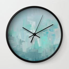 Cool Ocean Breeze Abstract Expressions Wall Clock