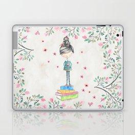 Bookish Girl Watercolor Laptop & iPad Skin