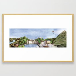 Vila Real landscape Framed Art Print