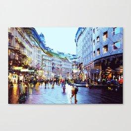 Vienna Rhapsody in Blue Canvas Print