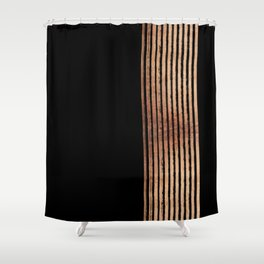 All That Glitters In Rose Gold Shower Curtain