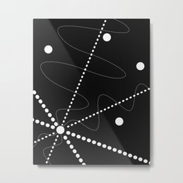 """Per aspera ad astra"". Abstract composition based on the contrast of dots (white dots). Metal Print"