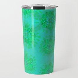 Teal Petal Rose Travel Mug