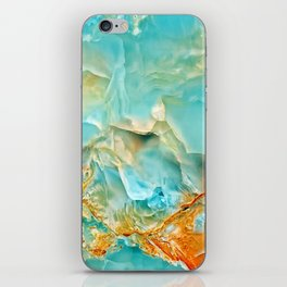 Onyx - blue and orange iPhone Skin