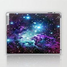 Fox Fur Nebula : Purple Teal Galaxy Laptop & iPad Skin