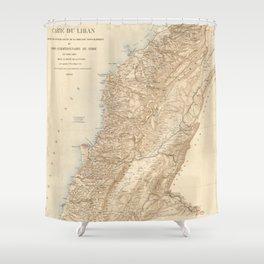 Vintage Map of Lebanon (1862) Shower Curtain