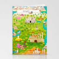 thrones Stationery Cards featuring A Map of Ice and Fire by Kitkat Pecson