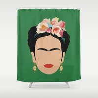 frida Shower Curtains featuring frida by Live It Up