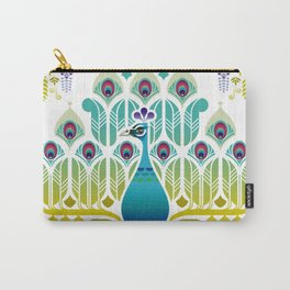Indian Blue Peacock [Pavo Cristatus] Carry-All Pouch