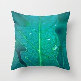 Papaya leaf morphology Throw Pillow