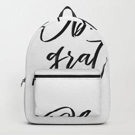 Obsessively Grateful white-black Backpack