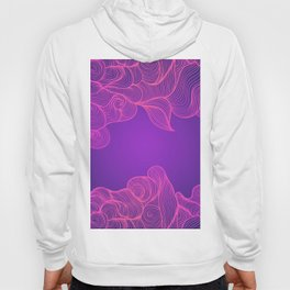 Heat Wave II Abstract Waves Hoody