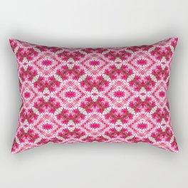 Padded Icy Pink Diamonds Rectangular Pillow