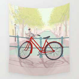 Amsterdam Canal Bike Wall Tapestry