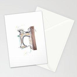 Vintage Singer Sewing Machine  Stationery Cards