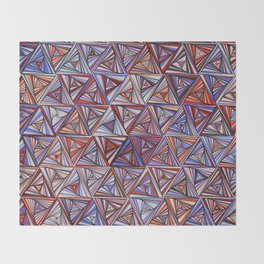 geometry: tri013 Throw Blanket