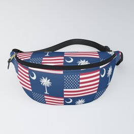 Mix of flag : Usa and south carolina Fanny Pack
