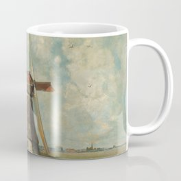 A mill on a polder canal, known as 'In the month of July' - Paul Joseph Constantin Gabriël (1889) Coffee Mug