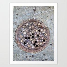 Worth Street Manhole Cover Art Print