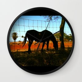 Horse by the Sea Wall Clock