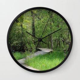 Winding boardwalk Wall Clock
