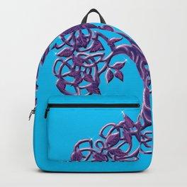 Tree of life Aqua Purple Backpack