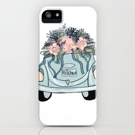 Hitched-Wedding print iPhone Case