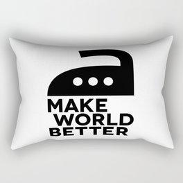 MAKE WORLD BETTER motivational poster vector artwork Rectangular Pillow