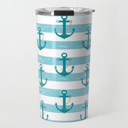 AFE Nautical Anchor Pattern Travel Mug
