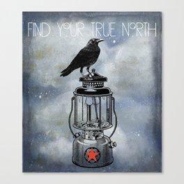 True North Raven Sits On Lantern Canvas Print