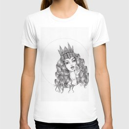 JennyMannoArt Graphite Drawing/Queen Isabella T-shirt