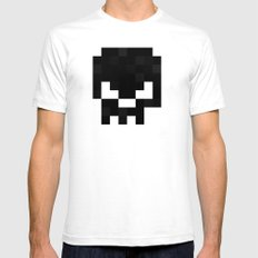 8bit pixelated skull. Mens Fitted Tee White SMALL