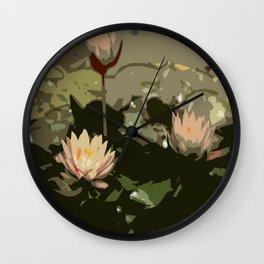 Waterlily Abstract Wall Clock