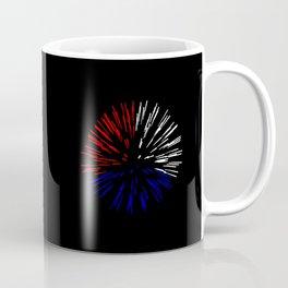 "Fireworks | ""Burst"" | Red, White, & Blue (""Thirds"") | [D0933~52] Coffee Mug"