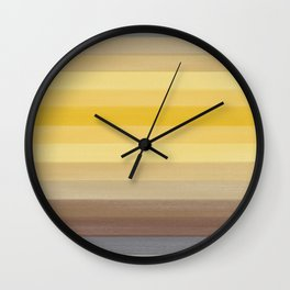 Retro Water Sunset Blue Hue Wall Clock