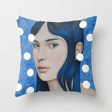 Bulles d'or Throw Pillow