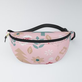 Cute Christmas in pink Fanny Pack