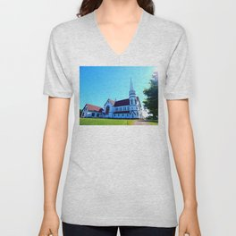 St. Mary's Church front view Unisex V-Neck