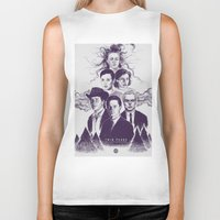 twin peaks Biker Tanks featuring Twin Peaks by Young Napoleon