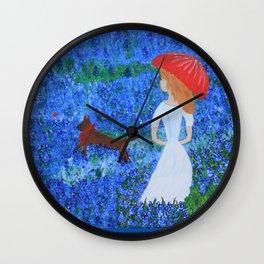 Bluebonnet Hills Wall Clock
