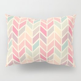 Pastel Chevron Geometric Pattern Pillow Sham
